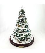 "Thomas Kinkade Village Christmas Illuminated Tree 15"" 2004 Bradford Edit... - £35.91 GBP"