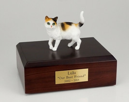 Cat Tri-Color Figurine Pet Cremation Urn Available 3 Different Colors & ... - $169.99+