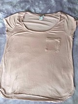 H&M Divided swingy top with cap sleeve Size S Color Light Pink Front Lef... - $6.79