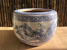 Antique Meiji Period Japanese Hibachi Flower Pot Porcelain - 0701-0027 - $485.00