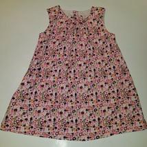 H&M Corduroy Dress Jumper Pink Orange Purple Flowers Sleeveless 1.5-2 yr... - $12.82