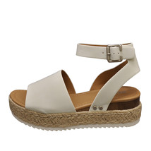 Soda TOPIC Off White Women's Platform Wedge Espadrille Sandals - $31.95+