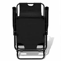 vidaXL 2x Folding Sun Loungers Reclining Chairs 3 Positions Sunbeds 3 Colors image 11