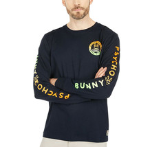 Men's Psycho Bunny Long Sleeve Sheffield Gradient Graphic Tee Logo Navy Shirt image 2