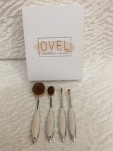 Ovel Ultimate Face Collection Cosmetic Brushes 4 Eyeshadow Contour Powde... - $24.74