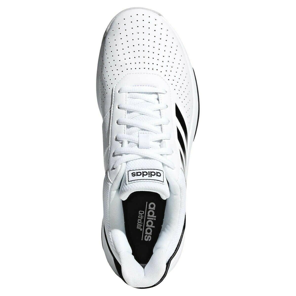 Nuevo Adidas Hombre Blanco / Negro Courtsmash Tribunal Smash Atlético Tenis NWOB image 4