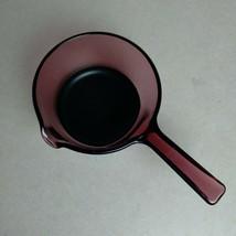 Vintage Vision Ware Corning Ware Cranberry 1L Sauce Pan Pour Spout Pink ... - $24.26