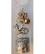 Glass Bottle Necklace Handcrafted Custom Made Gemstones Charms Etc $15.99-$24.99 - $24.99