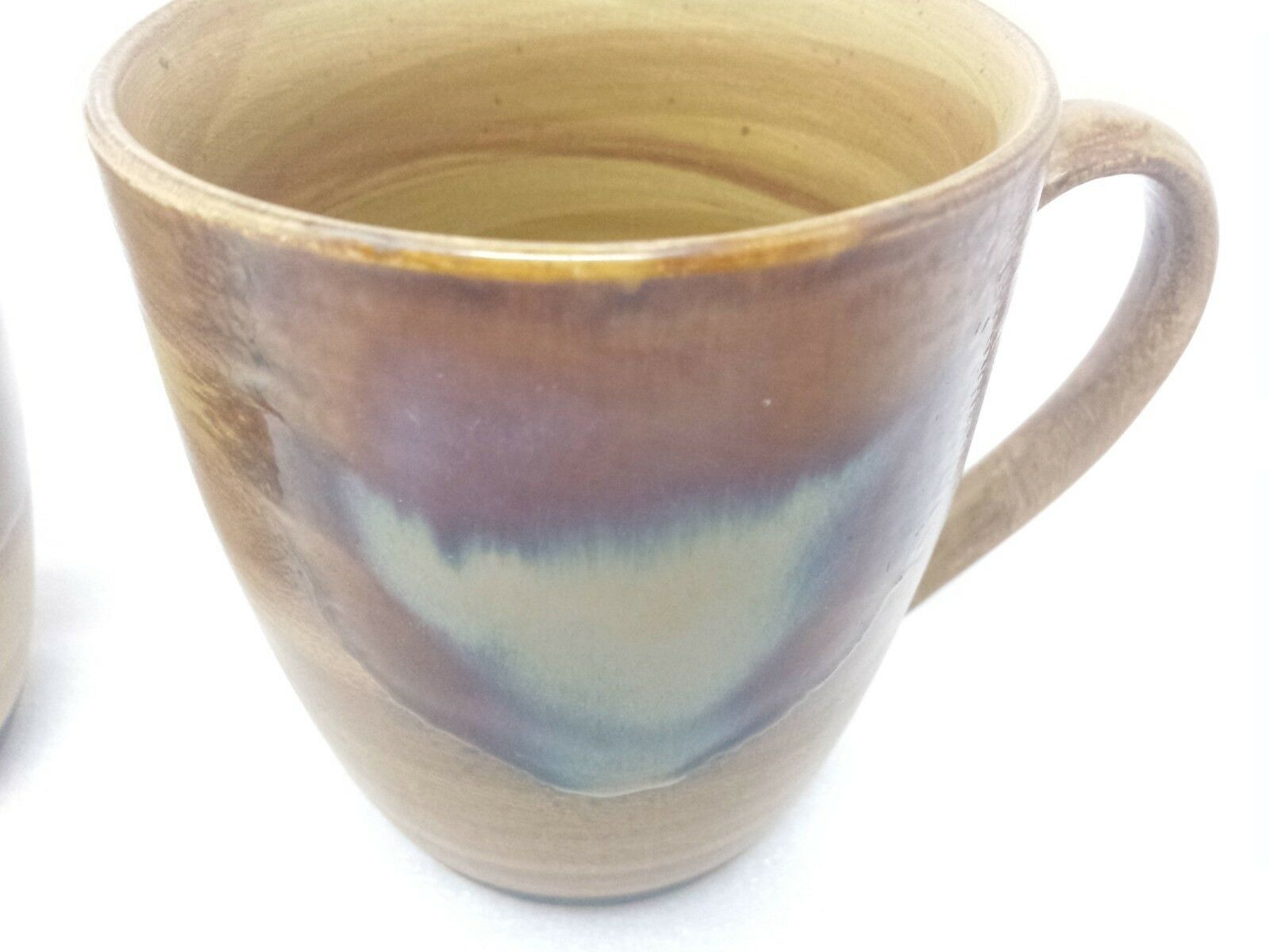 Sango Splash Brown Drip Glazed Mug Cup Coffee 4951 Stoneware