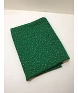"""2 Yards Green with White Stars Fabric 42"""" wide Cotton - $12.59"""