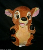 "10 ""disney parks babies baby bambi deer stuffed animal brown soft toy cute - $13.99"