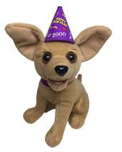 """Vintage Taco Bell Talking Chihuahua Plush 6"""" Yo Quiero Happy New Years 2000 - $19.75"""