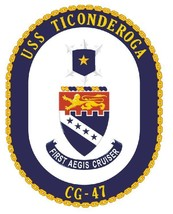 USS Ticonderoga Sticker Military Armed Forces Navy Decal M174 - $1.45+