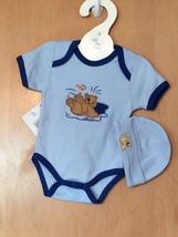 Baby Boy's Sports Onesie & Hat Set 0-6 Months - $15.00