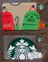 Starbucks 2018 Back To School Welcome Back Siren Silver Glitter Gift Cards Blank - $7.99