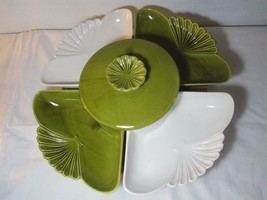 California Pottery Lazy Susan L71 Relish Chip Dip Serving Dish Mid Century - $28.01