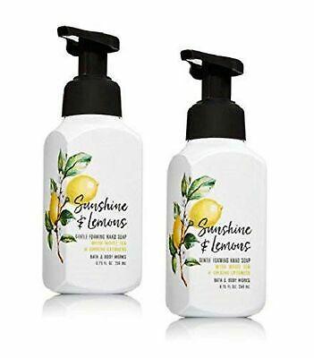 Bath and Body Works Set of 2 Foaming Hand Soap Pump Sunshine and Lemons