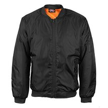 vkwear Men's Multi Pocket Water Resistant Padded Zip Up Flight Bomber Jacket (XL