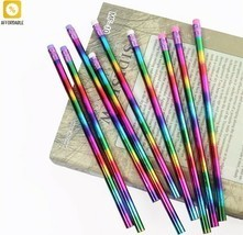 Pencil Rainbow Wood Environmental Protection Bright Color School Office ... - $7.32