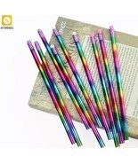 Pencil Rainbow Wood Environmental Protection Bright Color School Office ... - $7.32