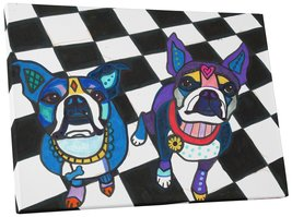 """Pingo World 0708QBLLJ54 """"Heather Galler Boston Terriers Dog"""" Gallery Wrapped Can - $43.51"""