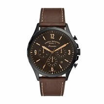 Fossil Men's Forrester Chronograph Brown Leather Watch FS5608 - $123.38