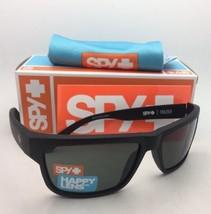 New SPY OPTIC Sunglasses FRAZIER Matte Black Frames with Happy Grey-Green Lenses
