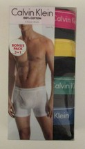 4 GENUINE CALVIN KLEIN MENS 100% COTTON CLASSICS BLACK BOXER BRIEFS SIZE... - $34.90