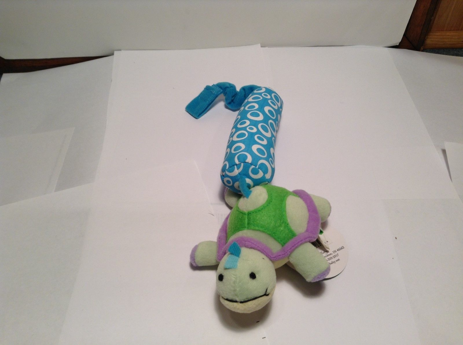 NEW Stephan Baby Plush Turtle Sea Creature Squeaker Toy