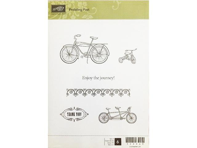 Stampin' Up! Pedaling Past Rubber Cling Stamp Set #120069