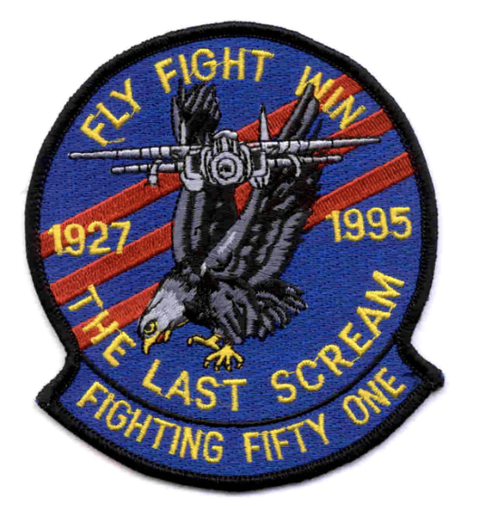 "Primary image for 5"" NAVY VF-51 THE LAST SCREAM EMBROIDERED PATCH"