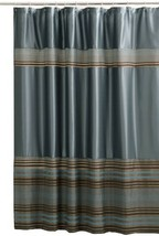 Maytex Mark Chenille Fabric Shower Curtain Blue MAYTEX - $29.86