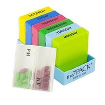 Borin-Halbich The 7Pack® 7 Day 2 Compartment Pill Organizer Light Blue T... - $13.48
