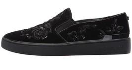 Michael Kors Kyle Slip-On Velvet Beaded Lace Black Size 7 EU 37 MSRP $180 - $94.05