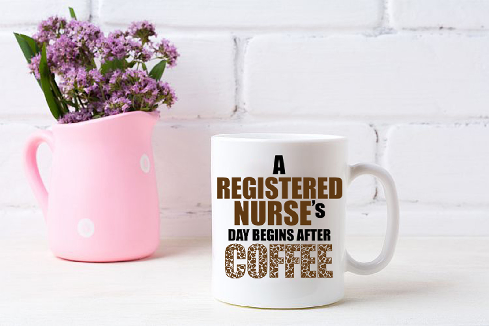 Nurse Coffee Mug - Registered Nurses Day Begins After Coffee Ceramic Travel Cup