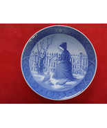 "1955 ROYAL COPENHAGEN RC Danish Porcelain CHRISTMAS PLATE  "" FANO GIRL "" - $149.00"