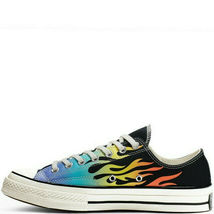 Converse Chuck 70 Ox Flames Archive Print Canvas 164407C Black/Turf Orange/Egret image 3