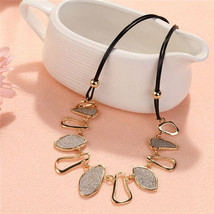 Elegant Geometric Matte Chunky Charms Chain Choker Bib Statement Collar ... - $12.99