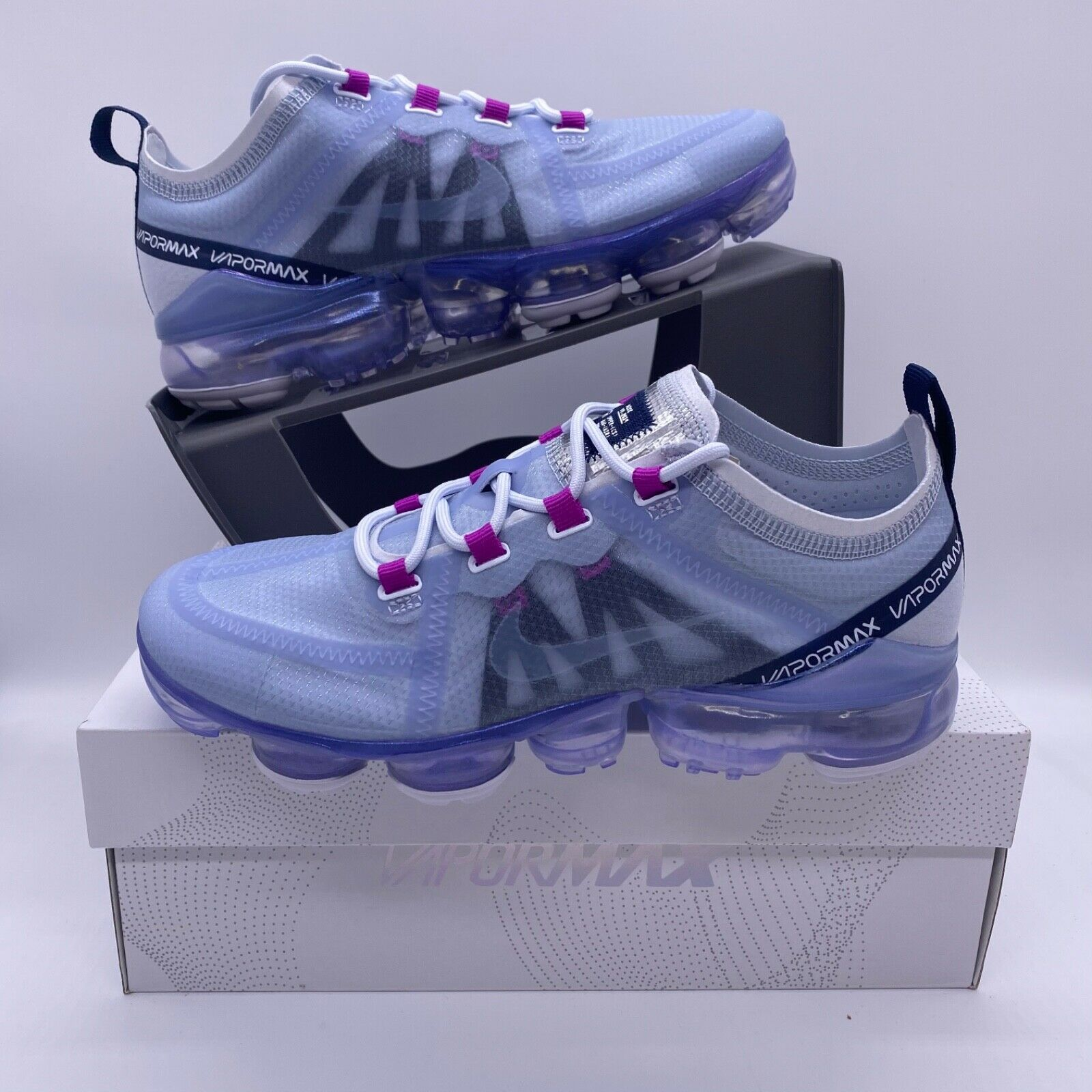 Primary image for Nike Air Vapormax 2019 Football Grey Purple Black AR6632-023 Women's Size 6.5-9