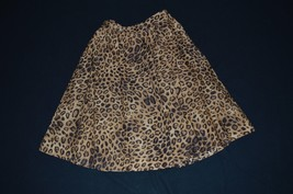 Jones New York 8P Petite Animal Print Leopard Lined Skirt Brown/Black EUC - $12.86