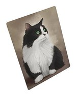 Black And White Persian Cat Art Portrait Print Woven Throw Sherpa Plush ... - $88.11