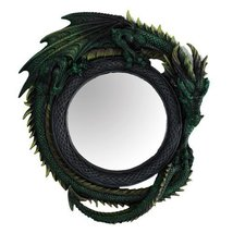 Green Celtic Dragon Mirror Collectible Figurine Home Decor 11134 - $43.99