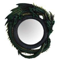 Green Celtic Dragon Mirror Collectible Figurine Home Decor 11134 - $43.55