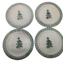 "Set of 4 Vintage Newcor Greenery Stoneware 11"" Plates  1995 Christmas Tr... - $24.74"