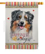 Australian Shepherd Happiness - Impressions Decorative House Flag H11014... - $40.97
