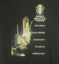 Graphic-Tee Space Shuttle Program Missions Large Black Shirt NASA UFO Aliens EUC - $4.94