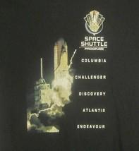 Graphic-Tee Space Shuttle Program Missions Large Black Shirt NASA UFO Aliens EUC - $14.85
