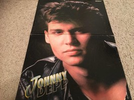 Johnny Depp New Kids on the block teen magazine poster clipping close up Triller