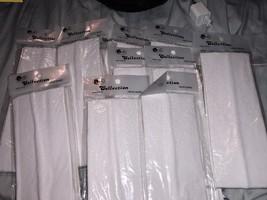 "10 x New White Headbands Sweatbands 3"" Soft Comfy Stretchy Craft Silhouette - $7.99"