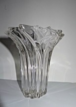Mikasa Parisian Crystal Vase Ivy Swirl Clear & Frosted 6.25 Inch Made In... - $27.22